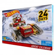 Hot Wheels Advent Calendar with 8 Decorated Vehicles DXH60