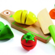 Fructe si legume de feliat de lemn - Set joc de rol
