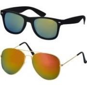 Freny Exim Aviator Sunglasses(Golden, Green)