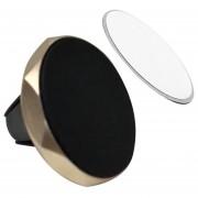 A1 Coche Aireador Pie Magnético Coche Teléfono Móvil Giratorio Soporte Magnético -el Oro