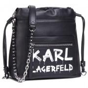 Дамска чанта KARL LAGERFELD - 206W3074 Black/White