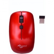multybyte Wireless Sleek Mouse shape MMPL W-1 For SONY HP ACER DELL APPLE LENOVO MAC (Red Color)
