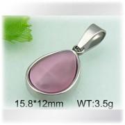 Kapka fialove barvy - ocelovy privesek