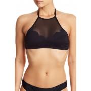 Vince Camuto High Neck Bikini Top BLACK