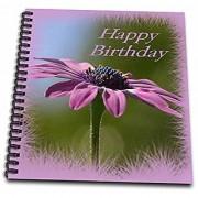 3dRose db_78752_2 Happy Birthday- African Daisy Birth Flower Daisies Osteospermum Flower Symbol-Memory Book 12 by 12-Inch
