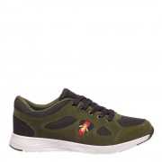 Rinden fekete zölddel férfi cipő