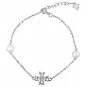 JwL Luxury Pearls Brățară din argint cu perle reale și cristale JL0314