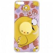 Husa Anti-Stres iPhone 6 Plus, 6S Plus 3D Bubble - Yellow Bird