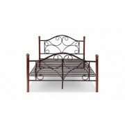 Costway Full Size Steel Bed Frame Platform Stable Metal Slats Headboard Footboard New Brown