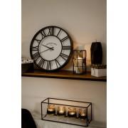 Emako Nástěnné hodiny s kulatým ciferníkem, římské číslice, nadčasový dekorační prvek interiéru
