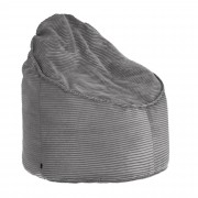 Kave Home Pouf Wilma Ø 80 cm velluto a coste grigio