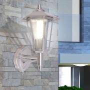 vidaXL Vonkajší nástenný lampáš, nerezová oceľ