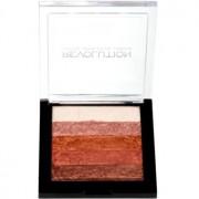 Makeup Revolution Shimmer Brick bronceador e iluminador 2 en 1 tono Rose Gold 7 g