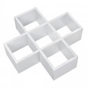 [en.casa]® Designová police na zeď - bílá - model 16