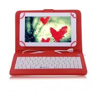 Husa Tableta 7 Inch Cu Tastatura Micro Usb Model X , Rosu , Tip Mapa
