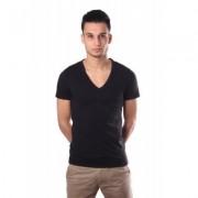 HOM Smart cotton tee V-Neck Black - Zwart - Size: 2X-Large