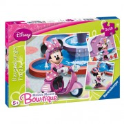 Puzzle Minnie Mouse in parc, 3x49 piese, RAVENSBURGER