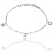 Bratara pentru Copii Borealy Argint 925 3 Charms