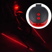 Bicycle LED Light Laser Night Mountain Bike Tail Light Taillight MTB Safety Warning Bicycle Rear Light Lamp Bycicle Light(Black)