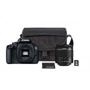 Aparat foto DSLR Canon EOS 4000D,18.0 MPm flimare Full HD + Obiectiv EF-S 18-55mm F/3.5-5.6 III + Geanta + Card de memorie 16 GB (Negru)
