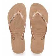 Havaianas Slippers Flipflops Slim Logo Metallic Roségoudkleurig