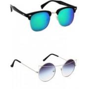 Eyeland Wayfarer, Round, Oval Sunglasses(Multicolor, Blue)