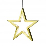 Five-pointed LED star Lucy gold 18 cm