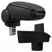 [pro.tec] Márkaspecifikus kartámasz / könyöklő autóba - Ford Fiesta MK7 modellhez - műbőr - fekete