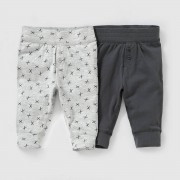 La Redoute Collections Lote de 2 calças estampadas, 0 meses-2 anosCinza Mesclado + Antracite- 6 meses (67 cm)