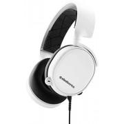 SteelSeries Arctis 3 Biauricular Diadema Negro, Blanco Auriculares con micrófono (PC/Juegos, Dolby Surround 7.1, Biauricular, Diadema, Negro, Blanco, Caucho)