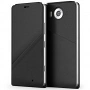 Husa Flip Cover Mozo 950FBGWN Black Golf cu NFC si Wireless Charging pentru Microsoft Lumia 950