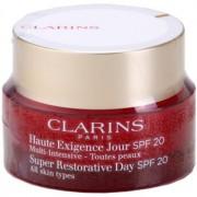 Clarins Super Restorative gel-crema de día antiarrugas con efecto lifting para todos tipos de piel SPF 20 50 ml