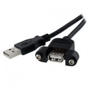 Startech Cavo USB , da USB 2.0 tipo A maschio a 4 Pin a Connettore femmina USB 2.0 a 4 Pin tipo A., lunghezza 0.9m, Nero, USBPNLAFAM3