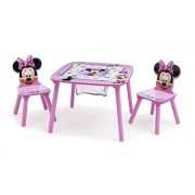 Disney Minnie Mouse Storage Table and Chairs Set Delta Children