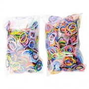 Rubber Band Bracelet Kit - Make Your Own Rubber Band Bracelets with This Monster Pack of Loom Refills - 2 Packs of 600 Latex Free Bands Each for a Total of 1200 Bands - Enough for About 48 Bracelets - Assorted Colors with 48 S Clips - Bracelet Making Kit