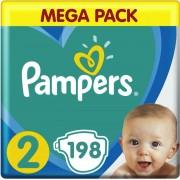 Pampers Baby Dry - Maat 2 - Maandbox - 198 luiers Voordeelbox newborn