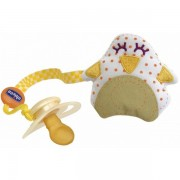 Chicco Clip Clap Porta Chupetas Tecido - Pinguim