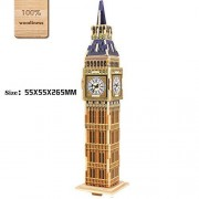 3D DIY Wooden Puzzle Big Ben Model Toy and Hobby for Kids