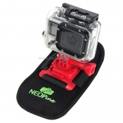 Neopine à la mode à 360 degrés Rotation Matériel de plongée Ceinture à camouflage / harnais à épaule pour GoPro HERO4 / 3 + / 3/2/1, Xiaomi Yi, SJCAM SJ6000 / SJ5000 / SJ5000 WIFI / SJ4000 Sport Camera (Rouge)