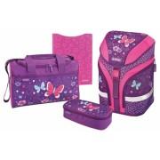 Ghiozdan echipat Motion Purple Butterfly Herlitz