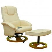 """vidaXL Масажен стол """"Resoga"""" с опора за крака, цвят крем"""