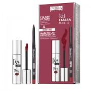 Pupa - Kit Labbra Perfette - I'M Matt Lip Fluid n.053 dark red (rossetto + matita)