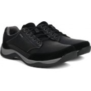 Clarks BaystoneGo GTX Black Leather Casual Shoes For Men(Black)