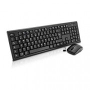 SQP Tastiera e mouse USB Wireless RF - ITA - (Qwerty , Mouse Ottico - 1000 dpi - 3 Pulsante - Scroll Wheel) - Nero