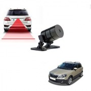 Auto Addict Car Styling Anti Collision Safety Line Led Laser Fog Lamp Brake Lamp Running Tail Light-12V Cars For Skoda Fabia