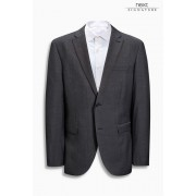 Mens Next Signature Italian Wool Suit: Jacket - Regular Fit - Charcoal Grey