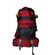 One Up Expandable Waterproof Red Rucksack Rucksack - 50 L(Red)