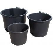 Vědro plast 20 l černé