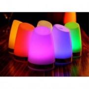 Vacker glödande bordslampa med LED - Gul, 132mm