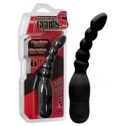 Aggress - hajlékony anál vibrátor (fekete)